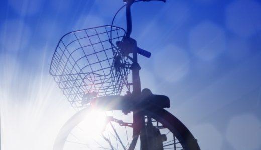 自転車にて営業活動